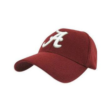 Licensed Alabama Crimson Tide Official NCAA One Fit Wool Hat Cap by TOW 262840 KO_19_1