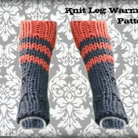 Knit Leg Warmers Knee High Boot Socks Pattern | Los Angeles Needlework
