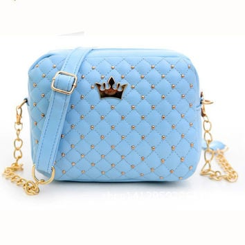 Feitong Fashion Women Outdoor Bags Rivet Chain Shoulder Bag Leather Cross Messenger body Clutch Tote Satchel Brand Wallets