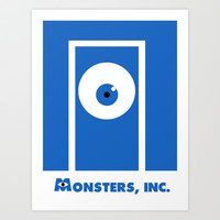 Monsters, inc. Art Print by Citron Vert