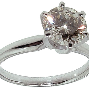 1 carat F SI1 diamond solitaire engagement ring Platinum ideal cut