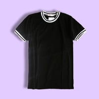 ALICIA JERSEY TEE (BLACK) by DAPINKRUBBISH