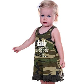 Summer Baby Girl Sleeveless Princess Party Clothes Dress Camouflage Printing Casual Pageant Kids Dresses for Girls Clothing