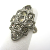 Art Deco Ring - Paste Stones