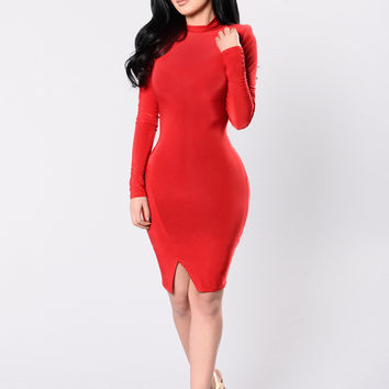 It's Alright Dress - Red
