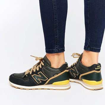 New Balance 996 High Black & Yellow Trainers at asos.com