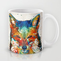 Colorful Fox Art - Foxi - By Sharon Cummings Mug by Sharon Cummings