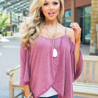 Leaving It All Behind Off Shoulder Top Dusty Rose