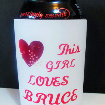 Bruce Springsteen customizable can cooler/ beer cozy/ koozie, unique  gift