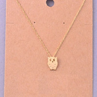 Owl Delicate Necklace