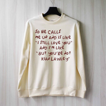 So He Calls Me Up - Kian Lawley Sweatshirt Sweater Shirt – Size XS S M L XL