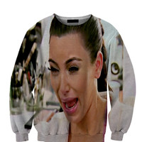 Kim Kardashian Crying All Over Custom Sublimated sweatshirt Unisex Women and Men