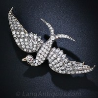 Antique Diamond Bird in Flight Brooch - 50-91-2527 - Lang Antiques