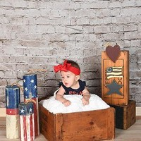 White Wash Backdrop With Wood Floor - 645
