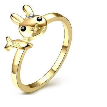 Super Cute Rabbit And Fish Ziron Rings