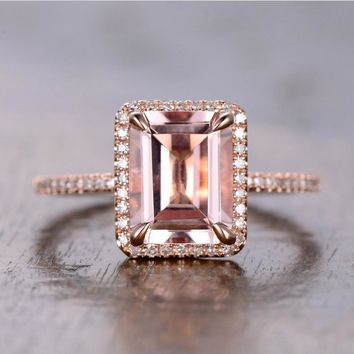 Drop Shipping Luxury Jewelry 925 Silver&Rose Gold Fill Princess Cut AAA Cubic Zirconia Office Party Wedding Band Ring for Women