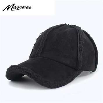 Trendy Winter Jacket Brand Winter Autumn Thickening Suede Fabric Men Women Baseball Caps High Grade Cotton Hip Hop Plus cashmere Hats Bone Snapback AT_92_12