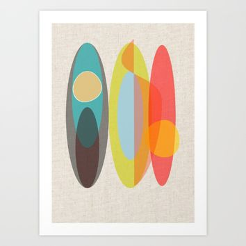 Surf Art Print by mirimo
