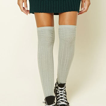 Geo Pattern Over-The-Knee Socks