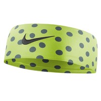 Nike Fury Polka-Dot Headband (Yellow)