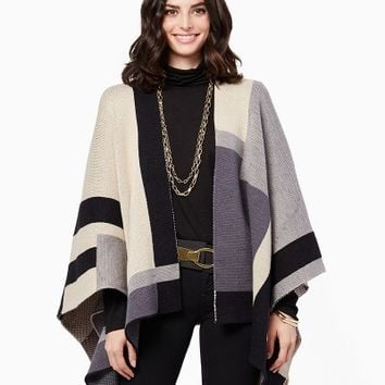 Pippa Colorblock Ruana Wrap | Fashion Apparel - Sweaters | charming charlie