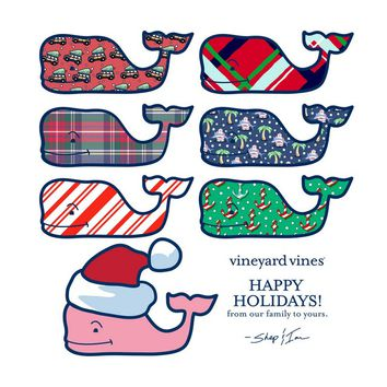 vineyard vines holiday sticker set
