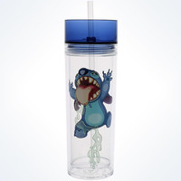 Disney Parks Stitch In A Bottle Tumbler With Straw New