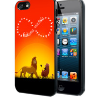 Disney, the lion king hakuna matata C Samsung Galaxy S3 S4 S5 Note 3 , iPhone 4(S) 5(S) 5c 6 Plus , iPod 4 5 case