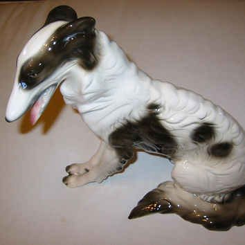 Cuernavaca Ceramic Seated Dog Hand Crafted Painted Signed By Artist
