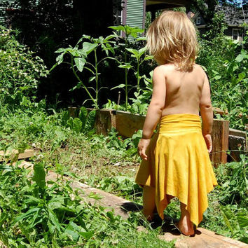 Children's organic cotton/bamboo asymmetrical fairy and pixie skirt-Waldorf inspired clothing