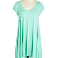 Pastel Long Short Sleeves A Crush on Casual Tunic in Mint