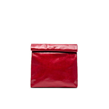 The Gold Chain Picnic-To-Go Clutch in Red