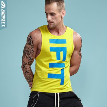 Aimpact 2017 Bodybuilding Men's Tank Tops Vivid Fitted Basic Male Vest Muscle Singlets Crossfit Fitness Workout Tees Man AM1021