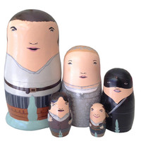 PygmyHippoShoppe — Princess Bride Nesting Doll Set
