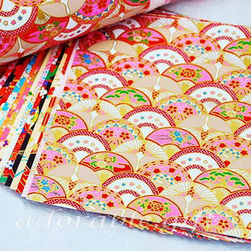 Origami Paper / Yuzen Chiyogami / Washi Paper / Japan Folding / Traditional Japanese Favour Crafts 14* 14 / 20 sheets Set A