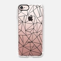 Abstraction Outline Transparent iPhone 7 Case by Project M | Casetify