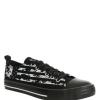 Americana Skull Lace-Up Sneakers
