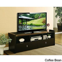 Modern TV Stand Espresso Entertainment Center Furniture Living Room Console Home