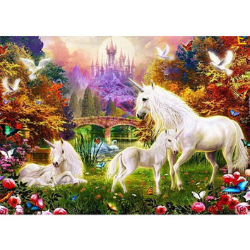 Horses 5D Rhinestone Diamond painting Kit DIY Embroidery Painting Craft Cross Stitch Home Living Room Decor Mosaic Craft