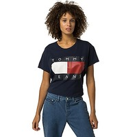 Tommy Jeans Cropped Flag Tee | Tommy Hilfiger USA