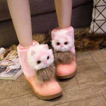 ESBONG On Sale Hot Deal Shoes Korean Stylish With Heel Cotton Lovely Boots [9432933706]