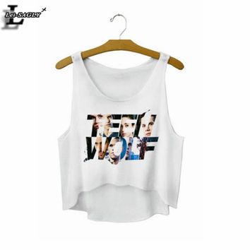 Lei-SAGLY Teen Wolf Crop Top Summer Style Tank Top Sexy Fitness Women Tops Cheap Clothes China Cropped Fashion Mujer 2017 F728