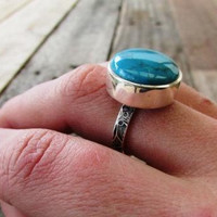 turquoise ring statement turquoise ring big turquoise ring turquoise jewelry sterling silver ring rings