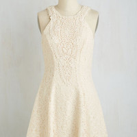 Sleeveless A-line Lace-Time Continuum Dress