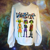 Unisex WHATEVER 90s Cartoon Alien Babes Sweatshirt // MTV Nickelodeon Jane Lane Cynthia Doll // FASHLIN