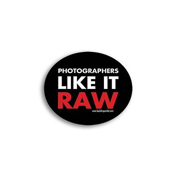 STICKER024 Photographers Like It Raw Photography Sticker