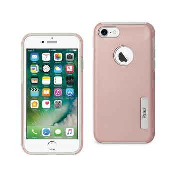 iPhone 8/ 7 Solid Armor Dual Layer Protective Case In Rose Gold
