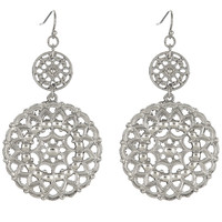 MEDALIA Filigree Drop Earrings | Silver