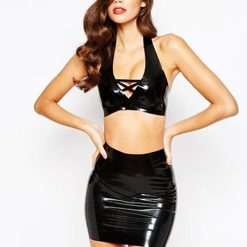 House Of Harlot Bambi Latex Bra at asos.com