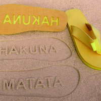 Hakuna Matata Double Layer Flip Flops by Glamfoxx